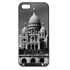 Vintage France Paris The Sacre Coeur Basilica 1970 Apple iPhone 5 Seamless Case (Black)