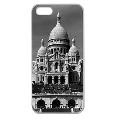 Vintage France Paris The Sacre Coeur Basilica 1970 Apple Seamless iPhone 5 Case (Clear)