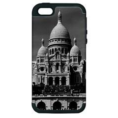 Vintage France Paris The Sacre Coeur Basilica 1970 Apple Iphone 5 Hardshell Case (pc+silicone)