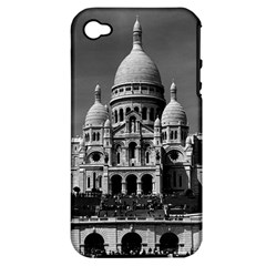 Vintage France Paris The Sacre Coeur Basilica 1970 Apple iPhone 4/4S Hardshell Case (PC+Silicone)