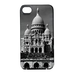 Vintage France Paris The Sacre Coeur Basilica 1970 Apple iPhone 4/4S Hardshell Case with Stand