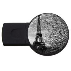 Vintage France Paris Eiffel tour 1970 2Gb USB Flash Drive (Round)