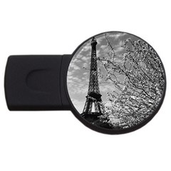 Vintage France Paris Eiffel tour 1970 1Gb USB Flash Drive (Round)