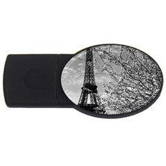 Vintage France Paris Eiffel Tour 1970 2gb Usb Flash Drive (oval)