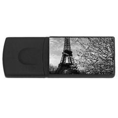 Vintage France Paris Eiffel tour 1970 2Gb USB Flash Drive (Rectangle)