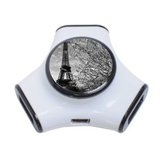 Vintage France Paris Eiffel tour 1970 3 Port USB Hub