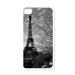 Vintage France Paris Eiffel Tour 1970 White Apple Iphone 4 Case