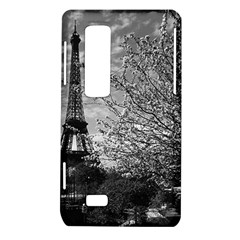 Vintage France Paris Eiffel tour 1970 LG Optimus 3D P920 / Thrill 4G P925 Hardshell Case