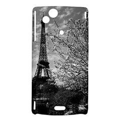 Vintage France Paris Eiffel tour 1970 Sony Xperia Arc Hardshell Case