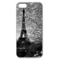 Vintage France Paris Eiffel tour 1970 Apple Seamless iPhone 5 Case (Clear)