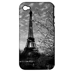 Vintage France Paris Eiffel tour 1970 Apple iPhone 4/4S Hardshell Case (PC+Silicone)