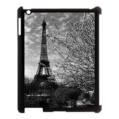 Vintage France Paris Eiffel tour 1970 Apple iPad 3/4 Case (Black)