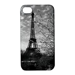 Vintage France Paris Eiffel tour 1970 Apple iPhone 4/4S Hardshell Case with Stand