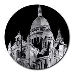 Vintage France Paris The Sacre Coeur Basilica 1970 8  Mouse Pad (round)