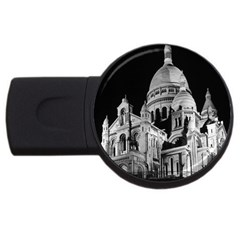 Vintage France Paris The Sacre Coeur Basilica 1970 2gb Usb Flash Drive (round)