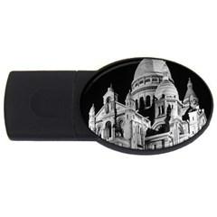 Vintage France Paris The Sacre Coeur Basilica 1970 4gb Usb Flash Drive (oval)