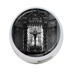 Vintage France Paris royal chapel altar St James Palace Twin-sided 4 Port USB Hub (Round)