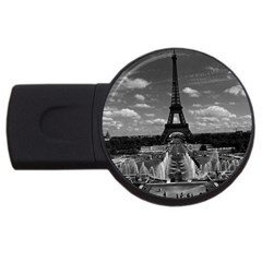 Vintage France Paris Fontain Chaillot Tour Eiffel 1970 1Gb USB Flash Drive (Round)