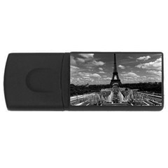 Vintage France Paris Fontain Chaillot Tour Eiffel 1970 2Gb USB Flash Drive (Rectangle)