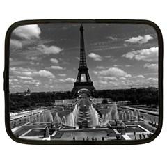 Vintage France Paris Fontain Chaillot Tour Eiffel 1970 13  Netbook Case