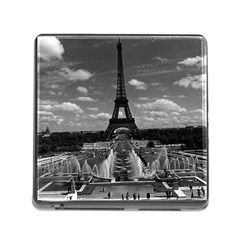 Vintage France Paris Fontain Chaillot Tour Eiffel 1970 Card Reader with Storage (Square)