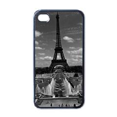 Vintage France Paris Fontain Chaillot Tour Eiffel 1970 Black Apple Iphone 4 Case
