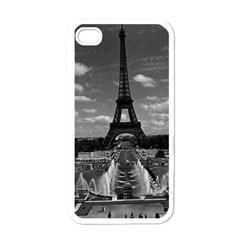 Vintage France Paris Fontain Chaillot Tour Eiffel 1970 White Apple Iphone 4 Case