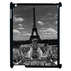 Vintage France Paris Fontain Chaillot Tour Eiffel 1970 Apple iPad 2 Case (Black)