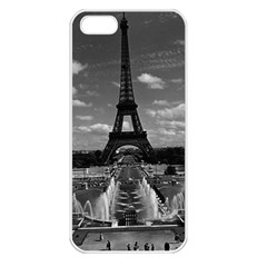 Vintage France Paris Fontain Chaillot Tour Eiffel 1970 Apple iPhone 5 Seamless Case (White)