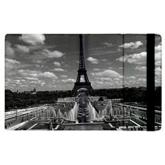 Vintage France Paris Fontain Chaillot Tour Eiffel 1970 Apple Ipad 3/4 Flip Case