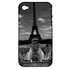 Vintage France Paris Fontain Chaillot Tour Eiffel 1970 Apple Iphone 4/4s Hardshell Case (pc+silicone)