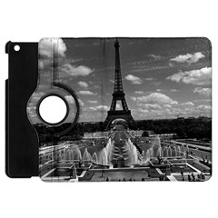 Vintage France Paris Fontain Chaillot Tour Eiffel 1970 Apple Ipad Mini Flip 360 Case