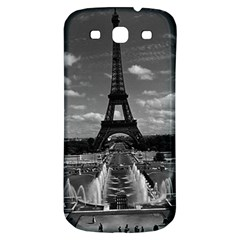 Vintage France Paris Fontain Chaillot Tour Eiffel 1970 Samsung Galaxy S3 S III Classic Hardshell Back Case