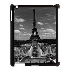 Vintage France Paris Fontain Chaillot Tour Eiffel 1970 Apple iPad 3/4 Case (Black)