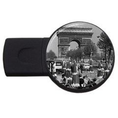 Vinatge France Paris Triumphal arch 1970 1Gb USB Flash Drive (Round)