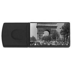 Vinatge France Paris Triumphal arch 1970 1Gb USB Flash Drive (Rectangle)