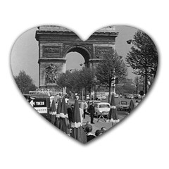 Vinatge France Paris Triumphal Arch 1970 Mouse Pad (heart)