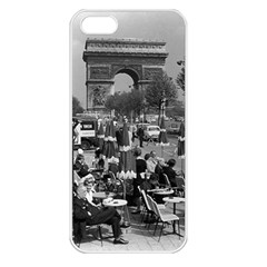 Vinatge France Paris Triumphal Arch 1970 Apple Iphone 5 Seamless Case (white)