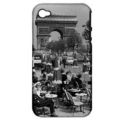Vinatge France Paris Triumphal arch 1970 Apple iPhone 4/4S Hardshell Case (PC+Silicone)