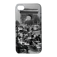 Vinatge France Paris Triumphal Arch 1970 Apple Iphone 4/4s Hardshell Case With Stand