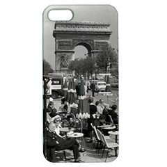 Vinatge France Paris Triumphal arch 1970 Apple iPhone 5 Hardshell Case with Stand