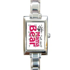 Mama Bear Claw 2013 Classic Elegant Ladies Watch (rectangle)