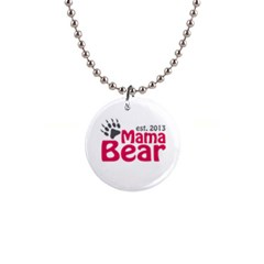 Mama Bear Claw 2013 Mini Button Necklace