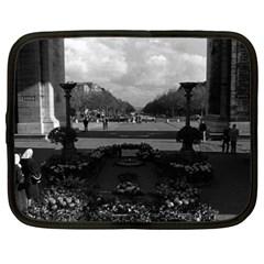 Vintage France Paris Triumphal arch Unknown soldier 15  Netbook Case