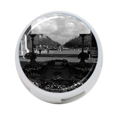 Vintage France Paris Triumphal Arch Unknown Soldier Single Sided 4 Port Usb Hub (round)