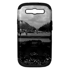 Vintage France Paris Triumphal arch Unknown soldier Samsung Galaxy S III Hardshell Case (PC+Silicone)