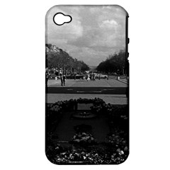 Vintage France Paris Triumphal arch Unknown soldier Apple iPhone 4/4S Hardshell Case (PC+Silicone)