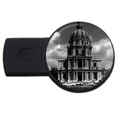 Vintage France Paris Church Saint Louis des Invalides 4Gb USB Flash Drive (Round)