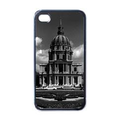 Vintage France Paris Church Saint Louis des Invalides Black Apple iPhone 4 Case
