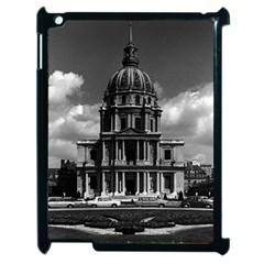 Vintage France Paris Church Saint Louis des Invalides Apple iPad 2 Case (Black)